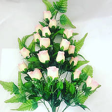 Искусственная роза на папоротнике., фото 3