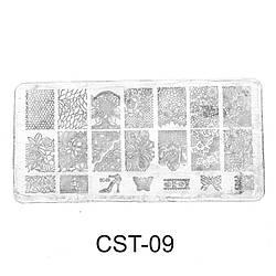 Трафарет (диск) для стемпинга CST-09