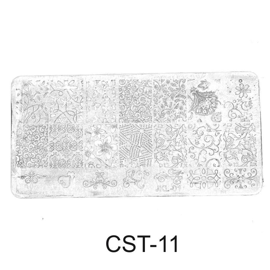 CST-11 Трафарет (диск) для стемпинга (уп-12шт)