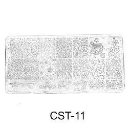 Трафарет (диск) для стемпинга CST-11