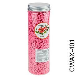 CWAX-401 Воск для горячей эпиляции с маслом розы (400g)