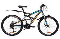 """Горный велосипед (двухподвес) DISCOVERY CANYON AM2 DD-26"""" (черно синий с ор)"""