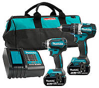 Набор инструментов Makita DLX2220 + 2 акб 18 V 3 Ah + з/у + сумка