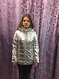Модная демисезонная куртка для девочки 6,10 л, фото 2
