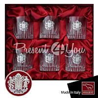Вип подарок мужчине хрустальный набор для виски «Казацкая рада» Suggest (6 предметов), 350 мл.