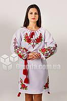 Женское вышитое платье с цветами Зоряна