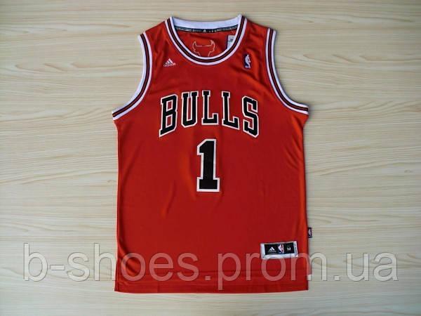 Мужская баскетбольная майка Chicago Bulls  (Derrick Rose) Red