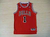 Мужская баскетбольная майка Chicago Bulls  (Derrick Rose) Red, фото 1