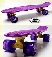 Penny Board. Classic. Violet. Светящиеся колеса!, фото 1