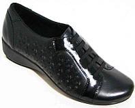 Туфли женские кожаные и замшевые 36-44 размеры черные 0023МД