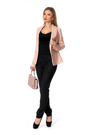 Модний жіночий костюм (жакет + штани) в цікавому колірному сполученні, фото 2