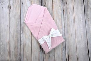 """Конверт-плед """"Косичка"""", розовый"""