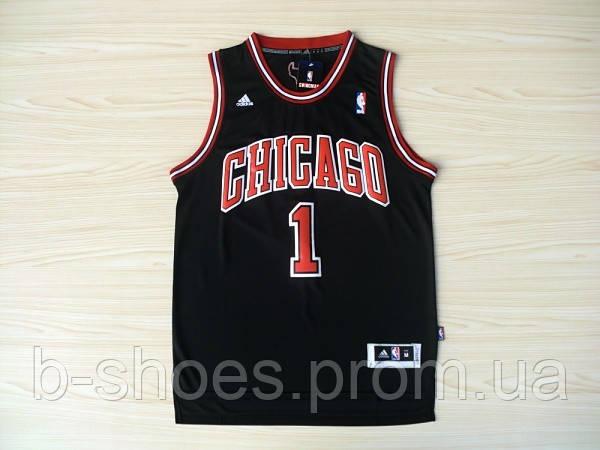 Мужская баскетбольная майка Chicago Bulls  (Derrick Rose) Black