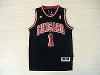 Мужская баскетбольная майка Chicago Bulls  (Derrick Rose) Black, фото 1