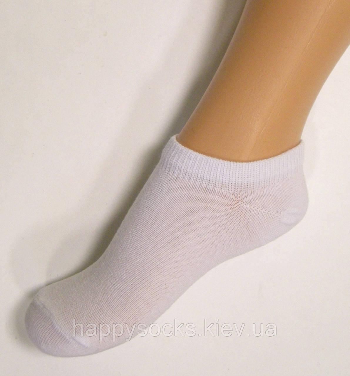 Короткие носки детские хлопковые белого цвета