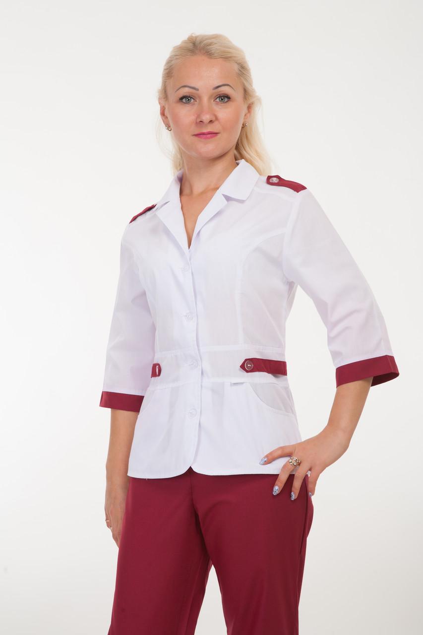 Медицинский костюм женский с вставками 2208 ( батист 42-54 р-р )