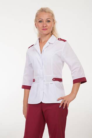 Медицинский костюм женский с вставками 2208 ( батист 42-54 р-р ), фото 2