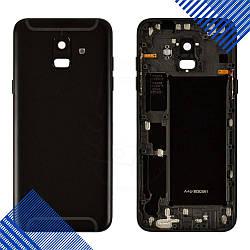 Задняя крышка для Samsung A600F Galaxy A6 (2018), цвет черный