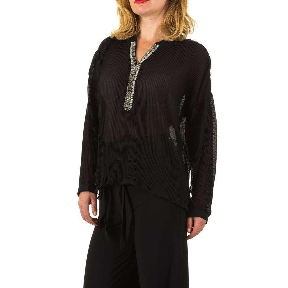 Женская блузка - черный - KL-L463-black