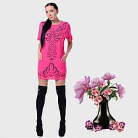 Платье-туника свободного кроя с перфорацией G7196