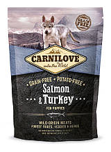Carnilove Salmon & Turkey Puppy 1,5kg Сухой корм для щенков с лососем и индейкой