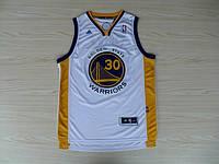 Мужская баскетбольная майка Golden state Warriors (Stephen Curry) White, фото 1