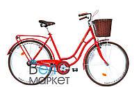 """Велосипед ARDIS BARCELONA 28"""" колесо ( Красный ) / Городской с корзиной / Женский"""