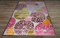 Акриловый рельефный ковер Bonita (Турция) хризантемы яркий