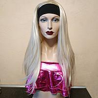 Парик длинные прямые волосы с повязкой