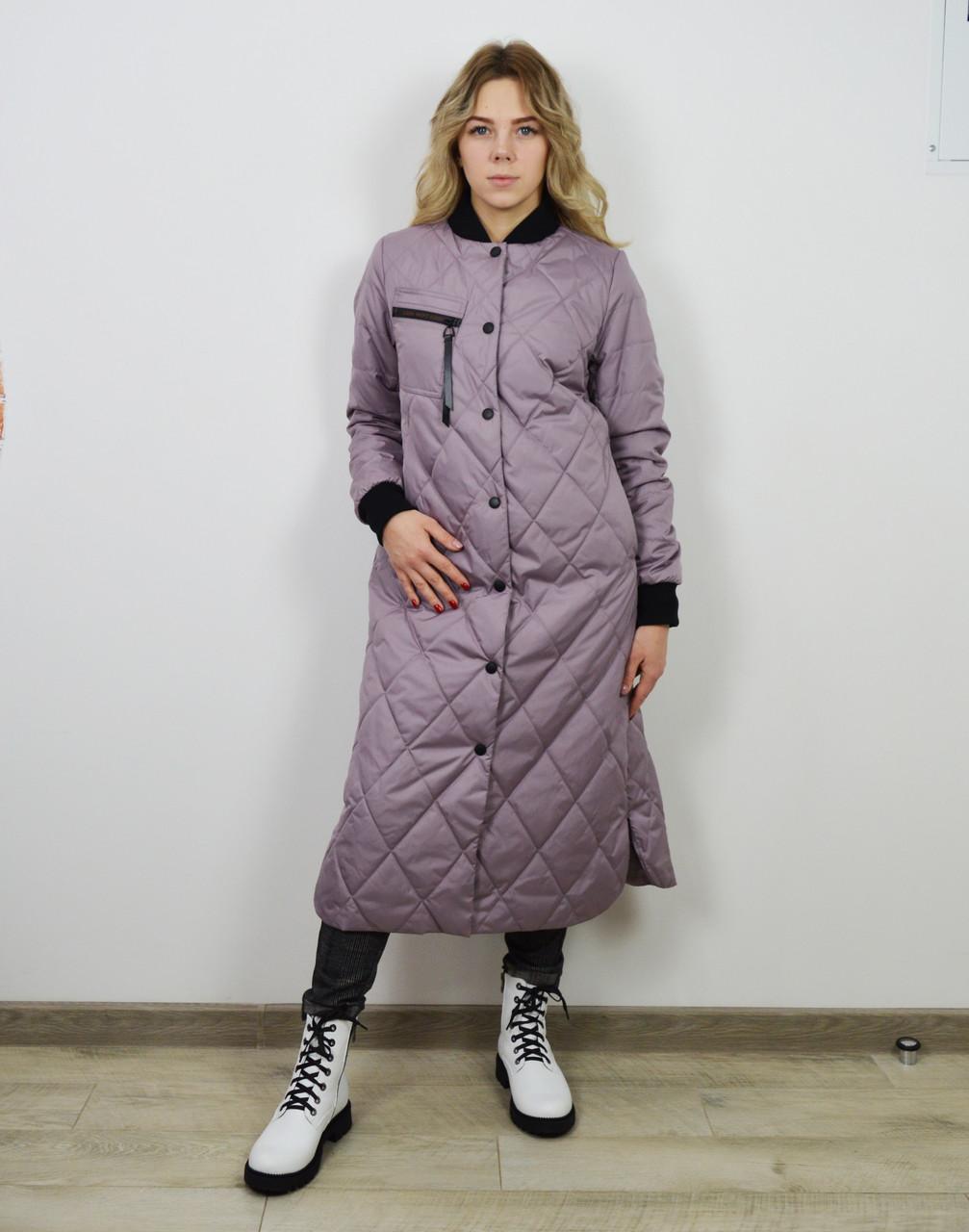 Пальто женское цвета лаванда CLASNA 707
