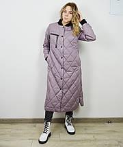Пальто женское цвета лаванда CLASNA 707, фото 2