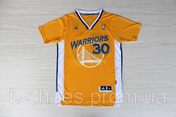 Мужская баскетбольная футболка Golden state Warriors (Stephen Curry) Yellow