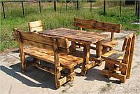 """Набор садовой мебели из дерева """"Лес"""" (стол+2 лавочки+2 стула)"""