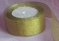 Лента парча золото 50 мм