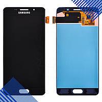 Дисплей Samsung Galaxy A5 A510F DS (2016) с тачскрином в сборе, цвет черный, сервисный оригинал