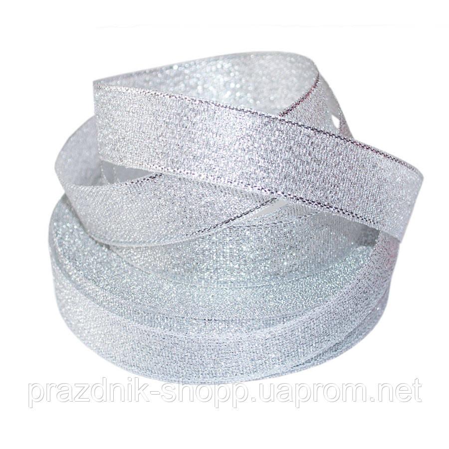 Лента парчовая 6мм., серебро