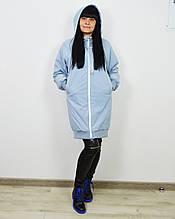 Голубая женская куртка CLASNA 721