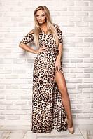 Платье в пол с леопардовой расцветкой