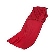 Флисовый плед с рукавами Snuggie халат детский, Красный