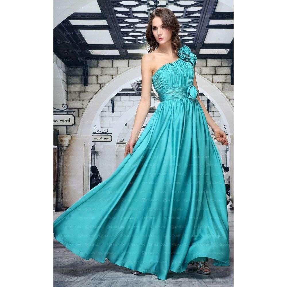 Женское платье от Festamo - petrol - Мкл-F6441-petrol