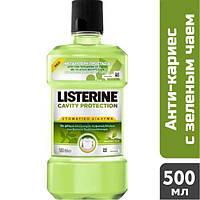 Ополаскиватель для рта Listerine Защита от кариеса с зеленым чаем, 500 мл