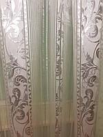 Тюль органза Vertical Silver H-244