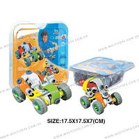 Детский конструктор пластиковый (2 модели машин) в блистере , 2555-11Е