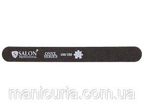 Пилка Salon Professional 100/100, черная, узкая