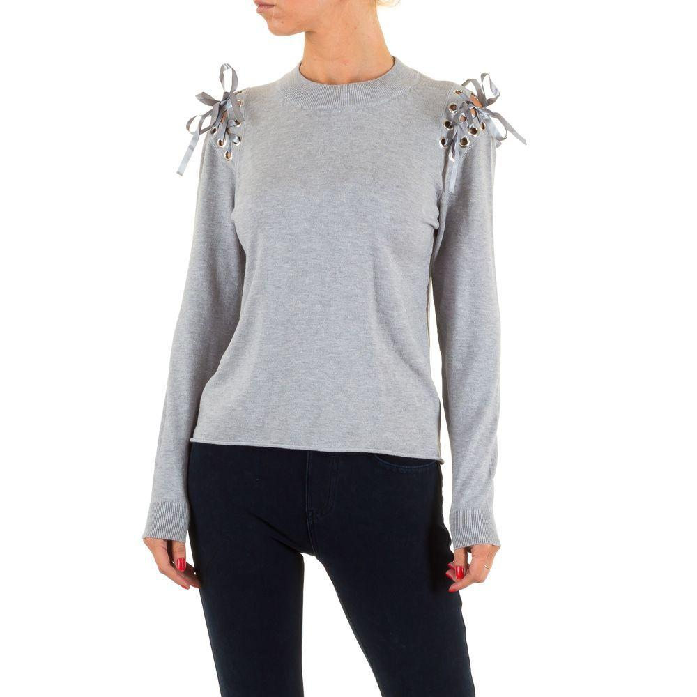 Женский свитер от Jcl, размер S/M - grey - KL-63168-серый S/M
