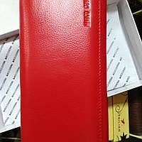 Женские кошелек на магнитах с блоком для карточек красный