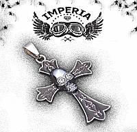 Крест с черепом из стали
