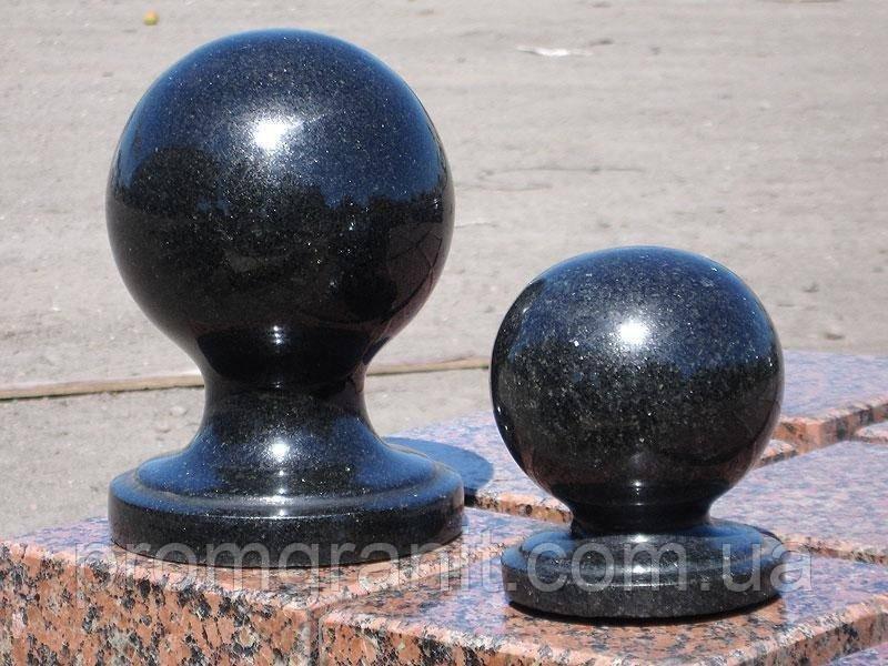 Гранитный шар черный