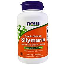 """Расторопша NOW Foods """"Silymarin"""" поддержка здоровья печени, 300 мг (100 капсул)"""
