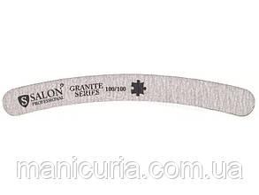 Пилка Salon Professional 100/100, серая, бумеранг